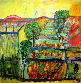 Co2    2007  100 x 100 cm   Olje på lerret