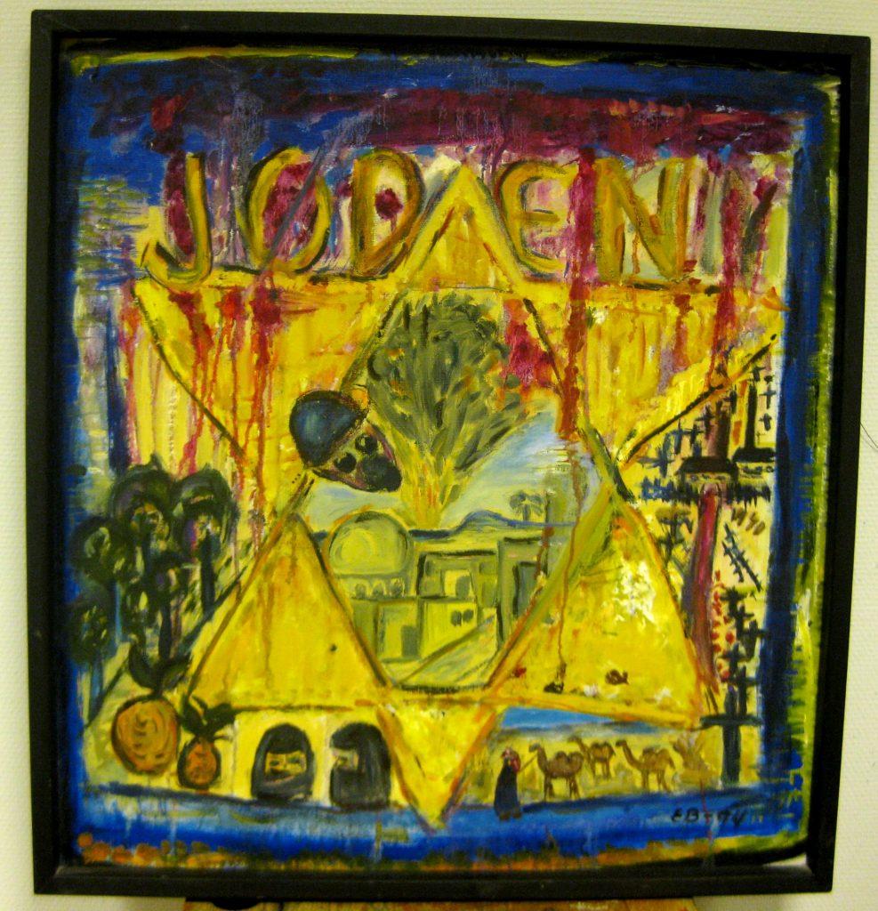 Jøden  1994  70 x 70 cm Olje på lerret