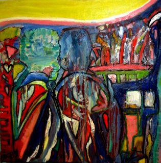 Svai atmosfære   2009   80 x 80 cm   Olje på lerret