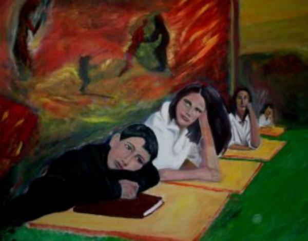Drømmer    2004  95 x 125 cm  Olje på lerret