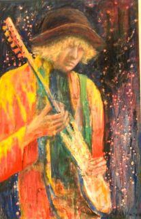 Gitarhelten  60 x 90 cm   Olje på lerret