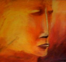 Gyldent mørke 2003  40 x 40 cm Olje på lerret