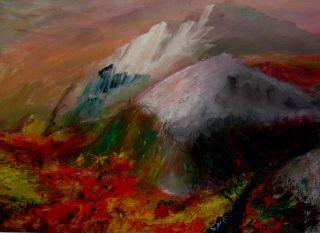 Høst   2004  30 x 45 cm  Olje på lerret