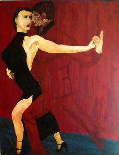 Tango 1     2007  80 x 100 cm  Olje på lerret