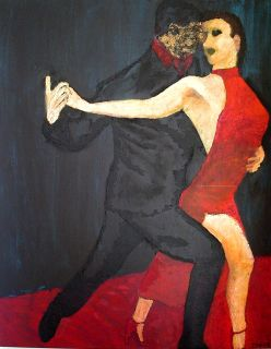 Tango 2     2007  80 x 100  Olje på lerret