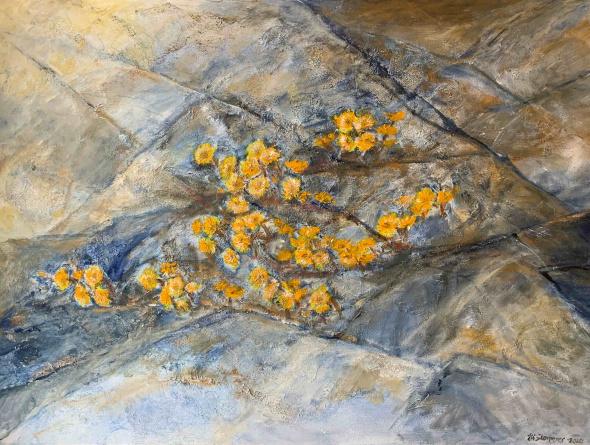 Berget blomstrer    Akryl på lerret    80 x115