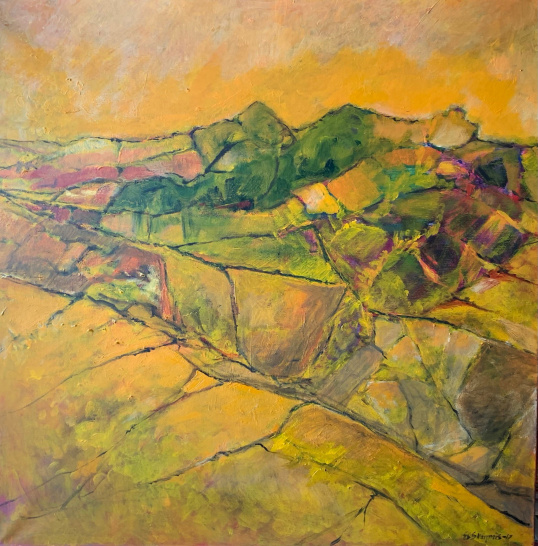 Landskap       Akryl på lerret 100 x100