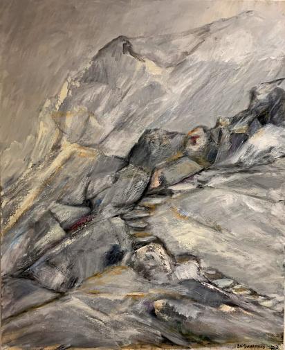 Oppover  Akryl på lerret  80 x 100