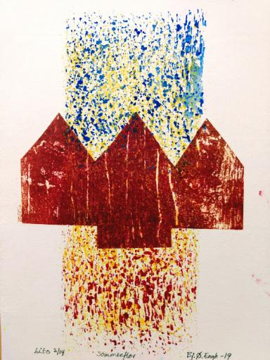 Sommerflor Blandet teknikk 19x13 cm
