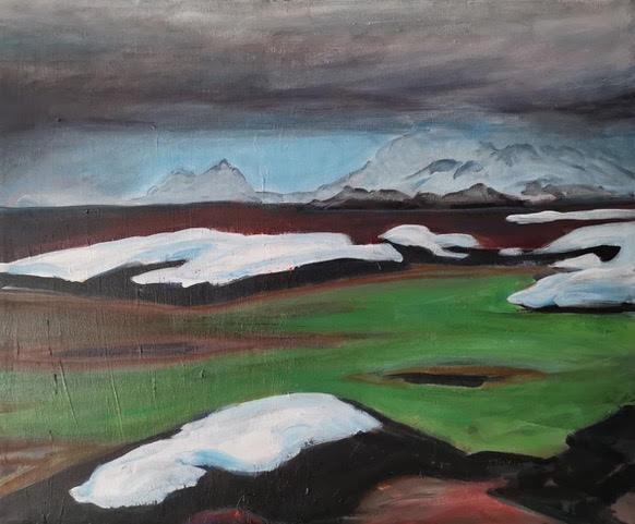 Mørketid Vesterålen     Akryl     65 x54