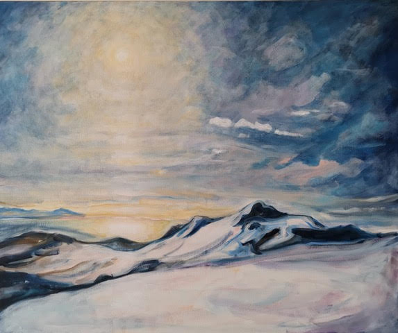 Påskefjell Hadseløya Akryl  73 x 60