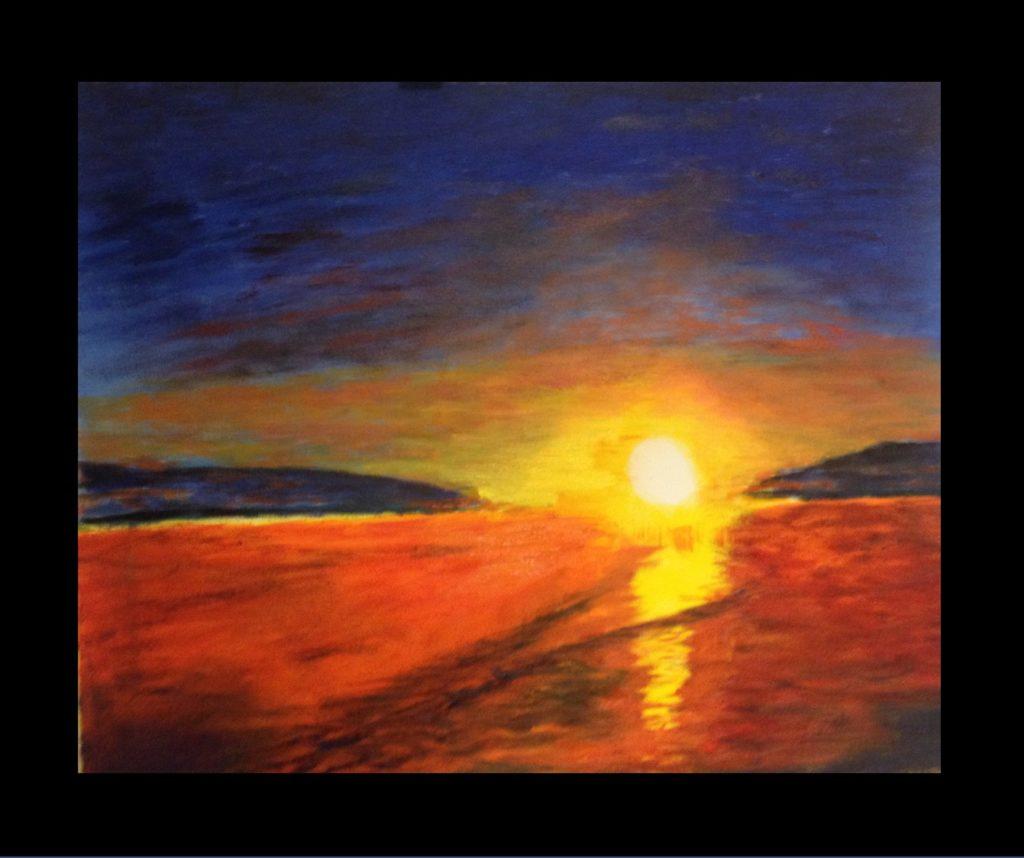 Solnedgang 2     olje på lerret    50 x 60 cm